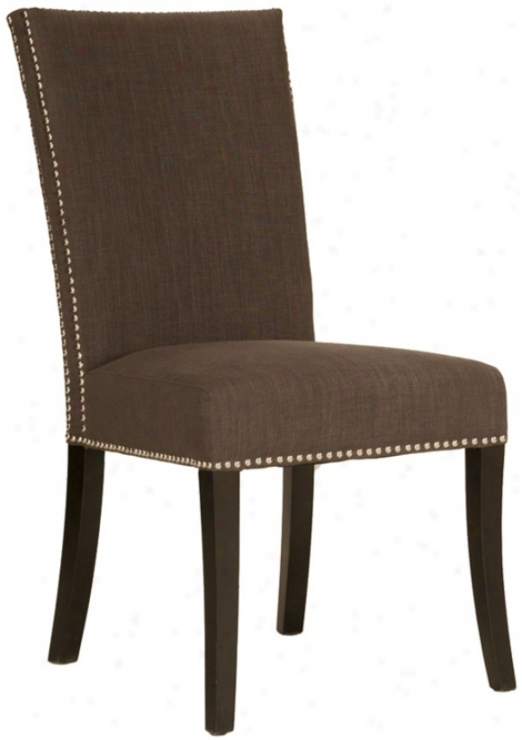 Soho Sepia Fabric With Claw Heads Armless Dining Chair (t7305)