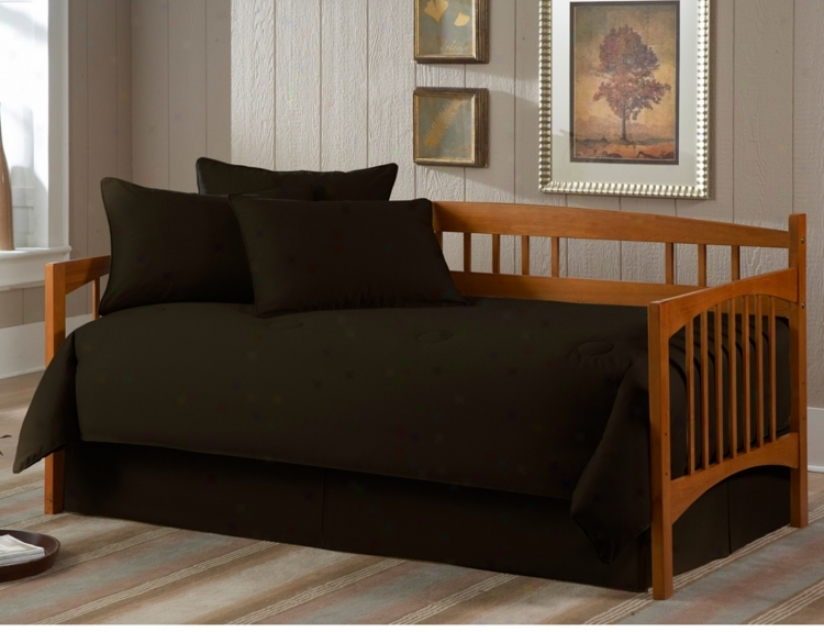 Solid Black Paramount 5-piece Daybed Bedding Set (u8421)