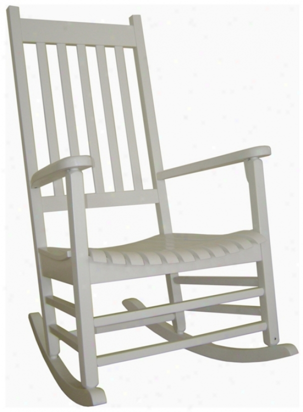 Solid Wood White Porch Rocker Chair (t4765)