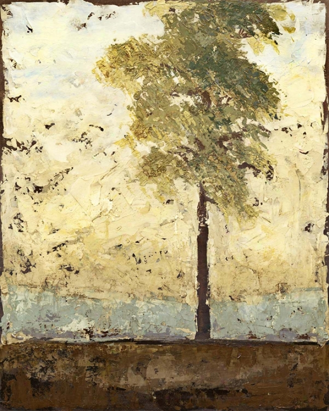 """Soliloquy Tree Giclee 40"""" High Canvas Wall Art (n1710)"""