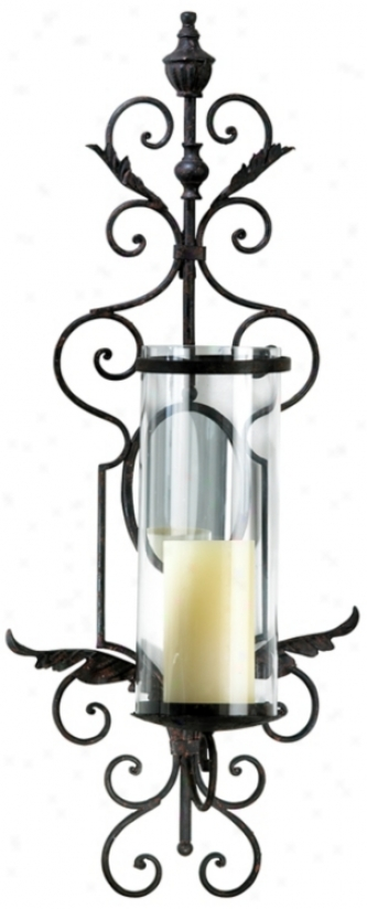 Sonoma Toasted Sienna Iron Wall Candle Holder (r0772)