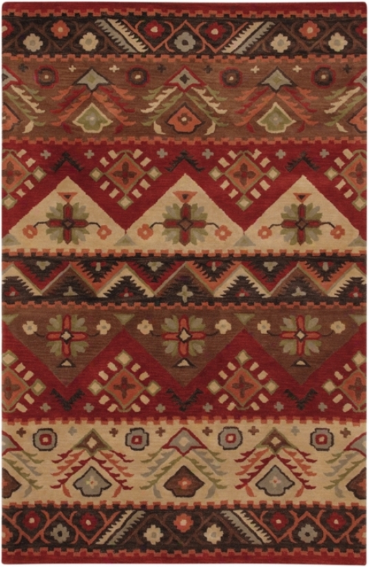 "Southwest Burgundy 2'6""x8' Area Rug (29208)"