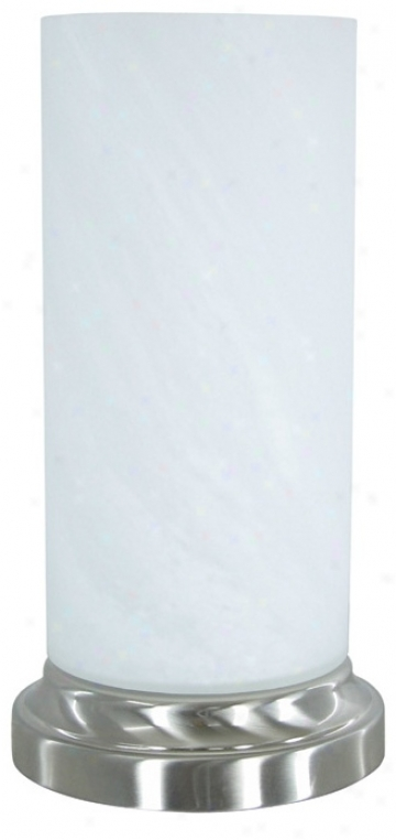 Sovereign White Alabaster Glaxs Uplight Accent Lamp (r9891)