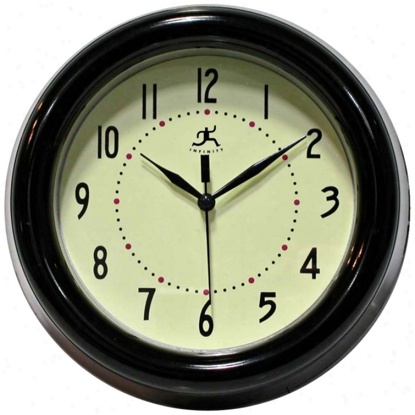 "Spartan Blzck 8"" Wide Round Wall Clock (r6855)"