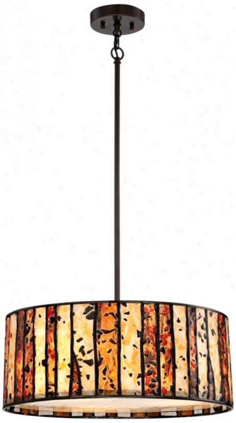 Speckled Glass Tiffany Style Pendant Chandelier (t7262)