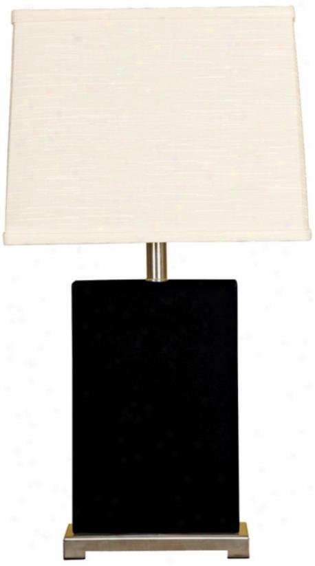 Splaash Collection Black Ceramic Rectangular Table Lamp (p3700)