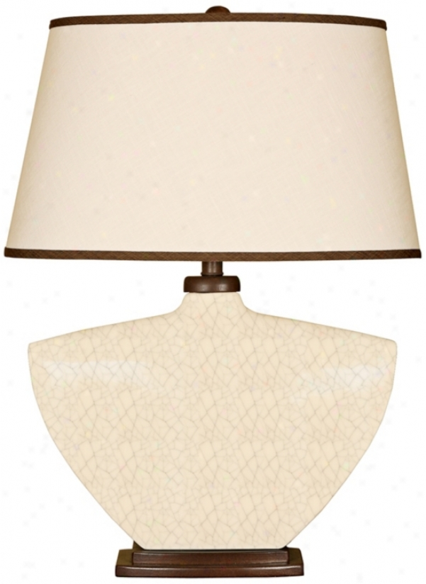 Splash Collection Crackle Curved Ceramic Table Lamp (p3869)
