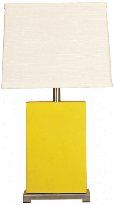 Splash Collection Mimosa Ceramic Rectangular Table Lamp (p3724)