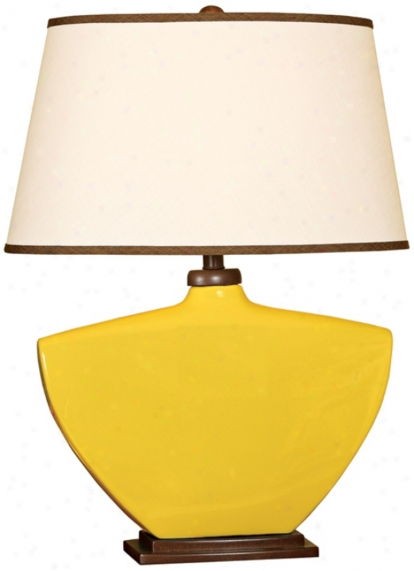 Splash Collection Mimosa Curved Ceramic Table Lamp (p3877)
