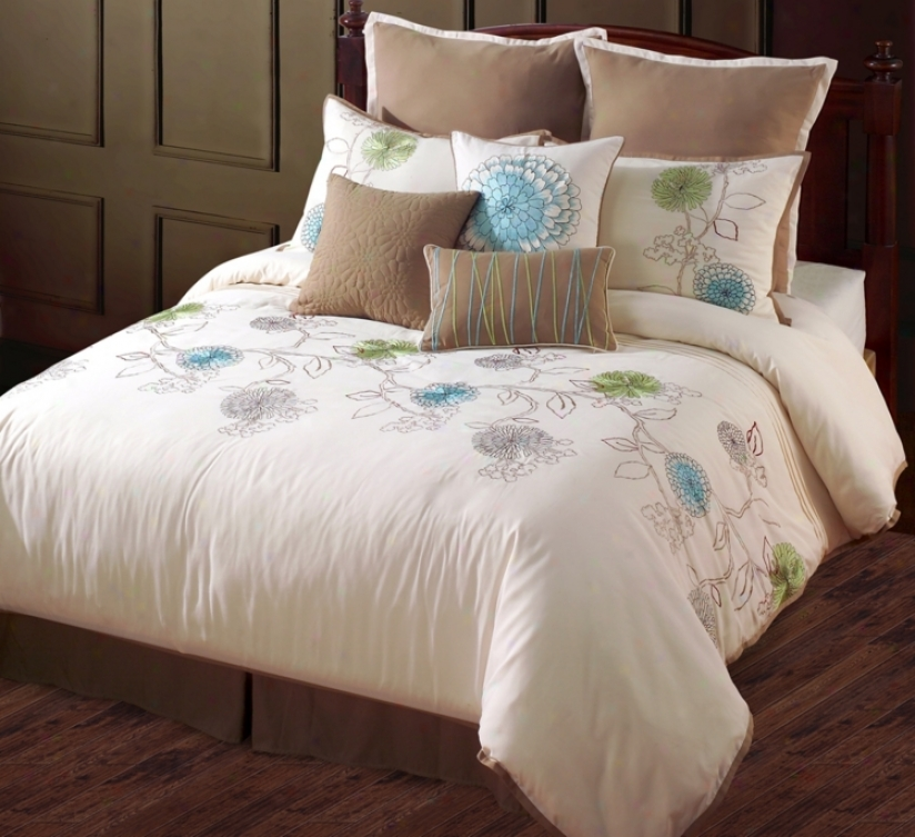 Spring Flower 7-piece King Bed Suit (r5623)