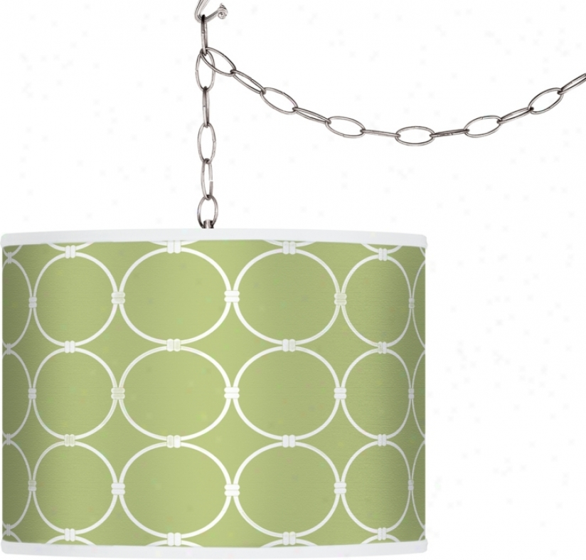 Spring Interlace Giclee Plug-in Swag Chandelier (f9542-h5287)