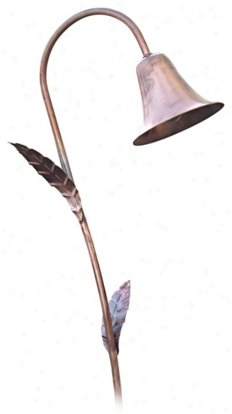 Spun Copper Bell Hat Low Voltage Landsape Light (67396)