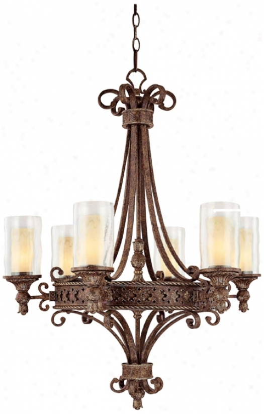 Squire Accumulation Crusted Umber Finish 6-light Chandelier (t3290)