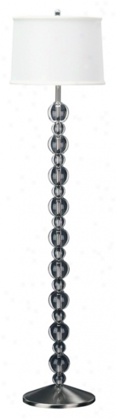 Stacked Crystal Ball Floor Lamp (50925)
