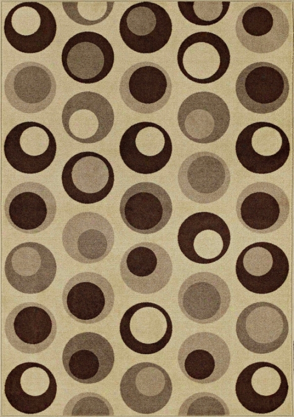 "Stacked Pebbles Beige 8' 2""x10' Area Rug (j4619)"