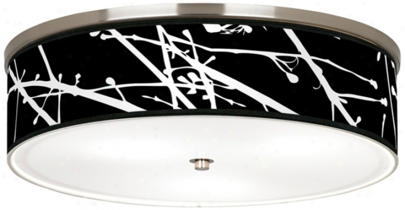 "Stacy Garcia Calligraphy Tree Black 20 1/4"" Ceiling Light (j9213-k1559)"