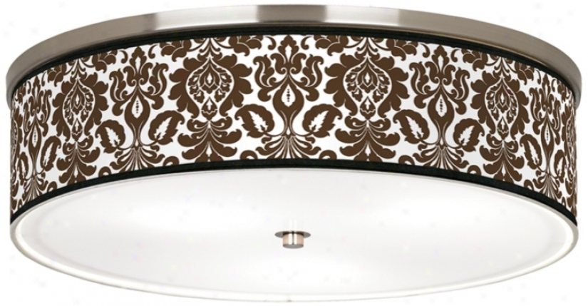 "Stacy Garcia Countess Florence Nickel 20 1/4"" Ceiling Light (j9213-k1541)"