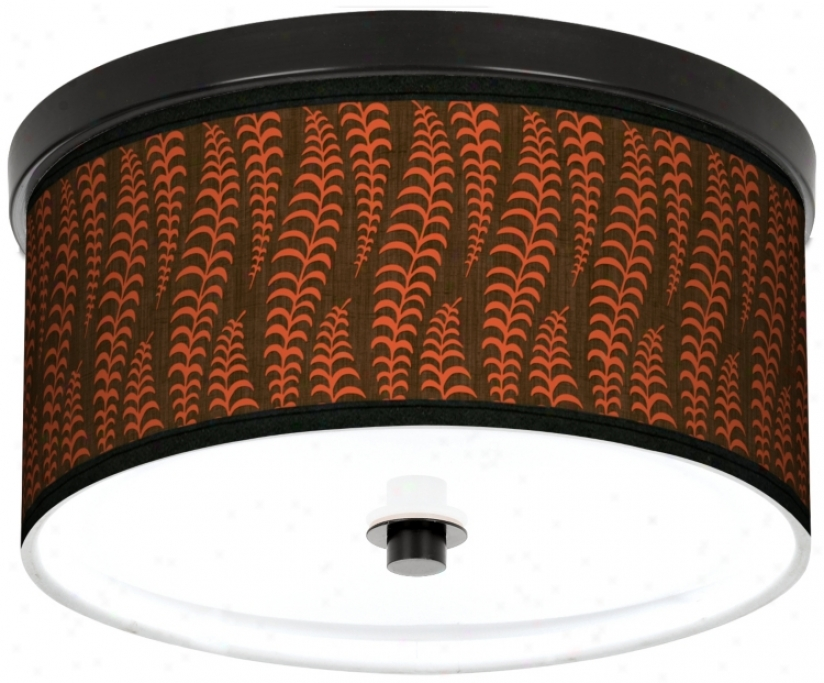 "Stacy Garcia Fancy Fern Coral 10 1/4"" Wide Cfl Bronze Light (k2833-m0609)"