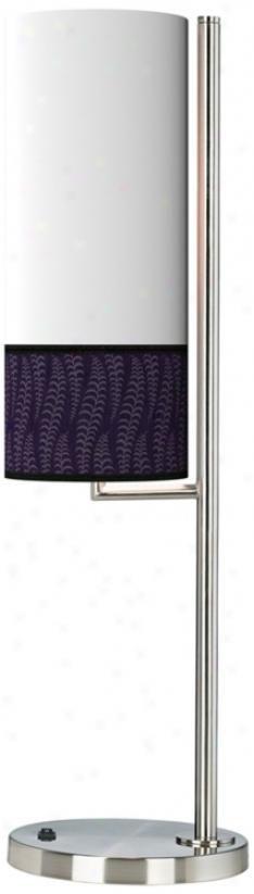 Stacy Garcia Fancy Fern Rich Plum Banner Giclee Table Lamp (38371-k0394)