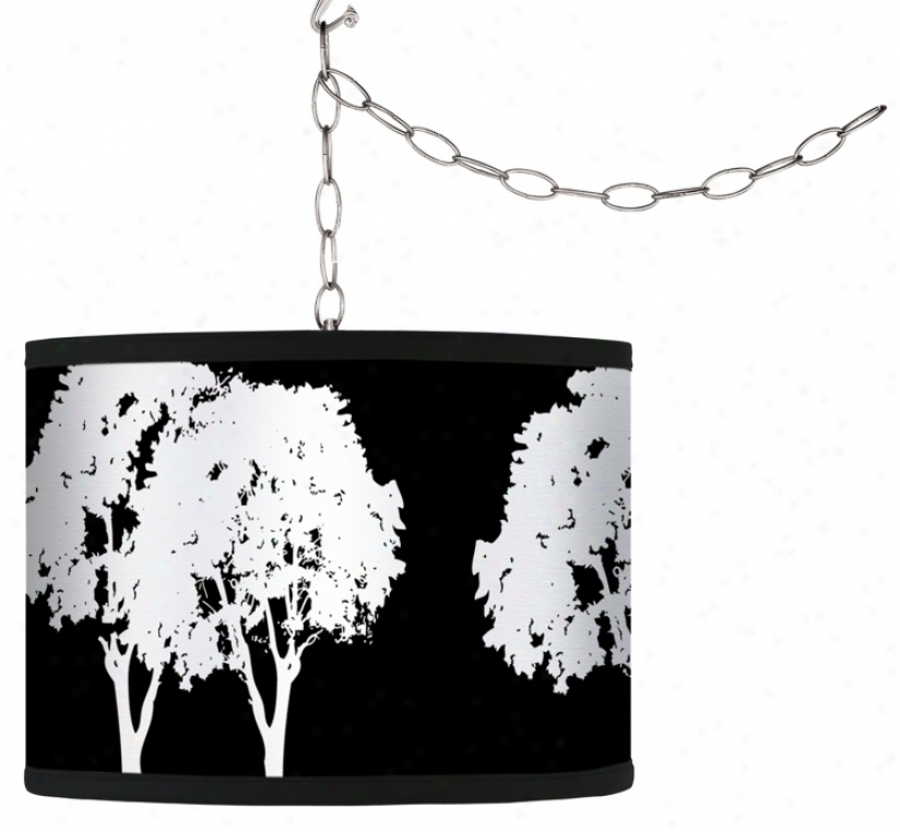 Stacy Garcia Forest Black Giclee Plug-in Swag Chandelier (f9542-h4453)