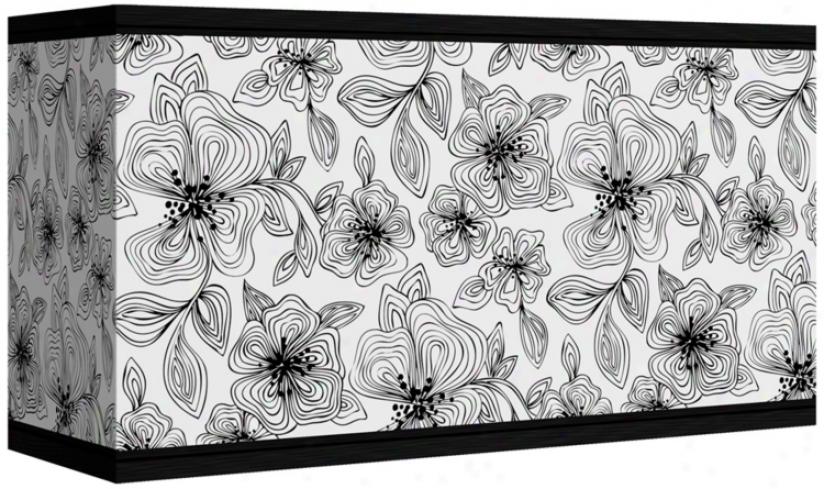 Stacy Garcia Linear Floral Giclee Shade 8/17x8/17x10 (spider) (n3789-u4725)
