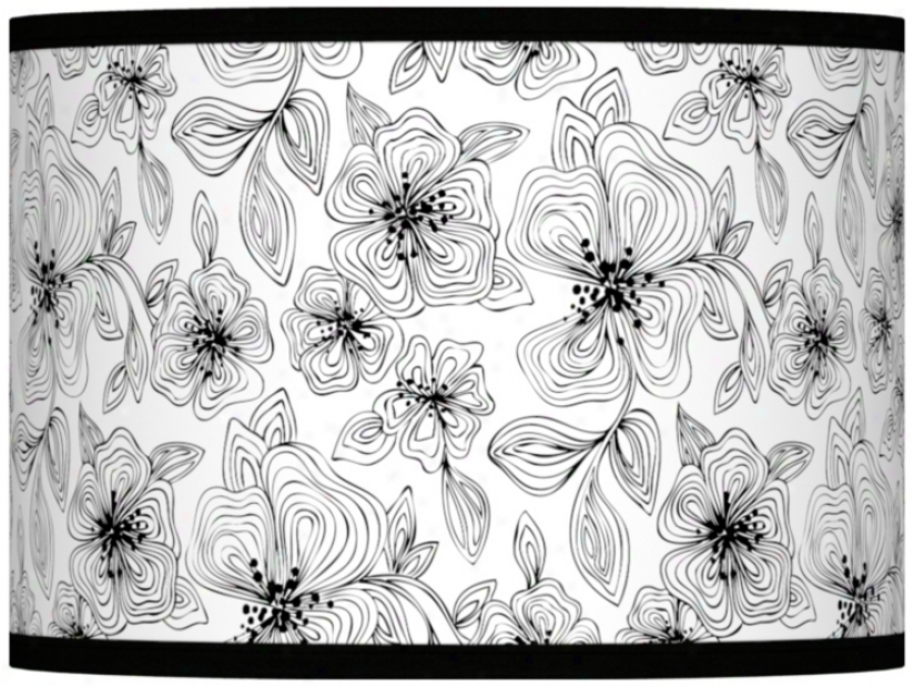 Stacy Garcia Linear Floral Lamp Shade 13.5x13.5x10 (spider) (37869-u4720)