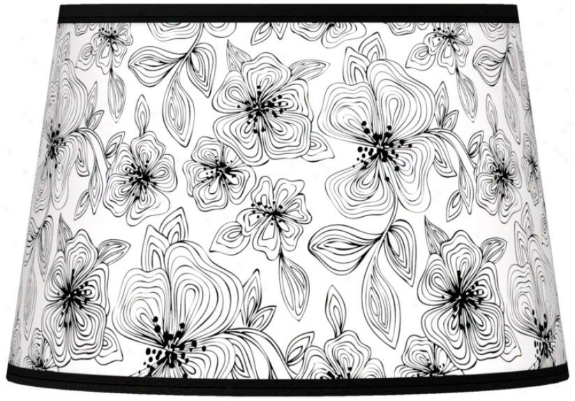 Stacy Garcia Linear Floral Tapered Shade 13x16x10.5 (spider) (n8900-u4727)