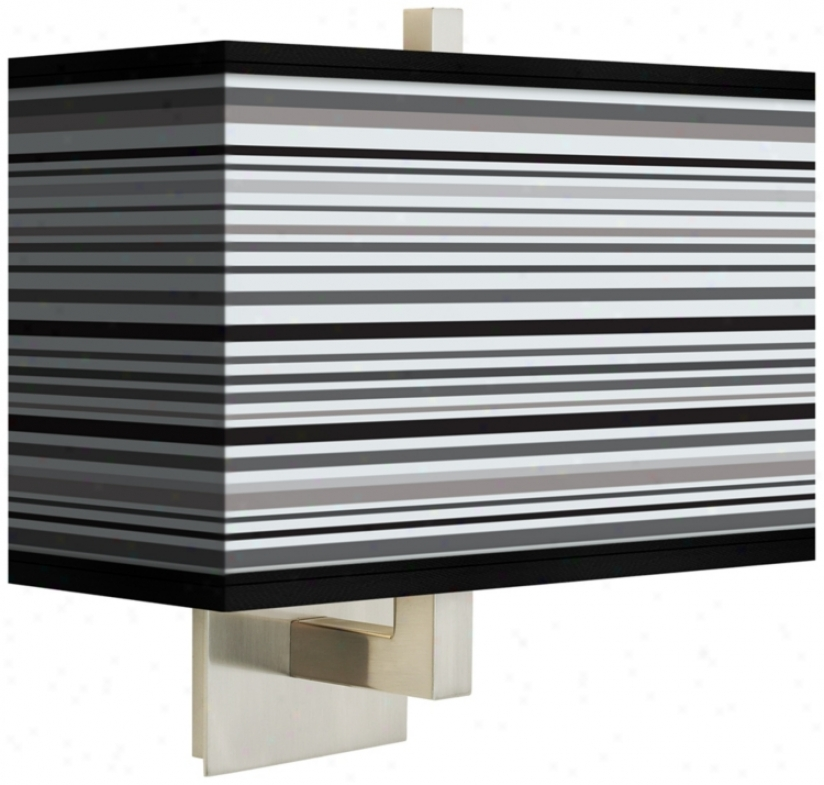 Stacy Garcia Archbishop Stripe Rectangular Shade Wall Sconce (m1072-m3073)