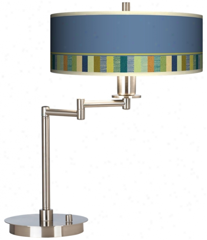 Stacy Garcia Modern Palette Giclee Cfl Swing Arm Desk Lamp (61495-j6905)