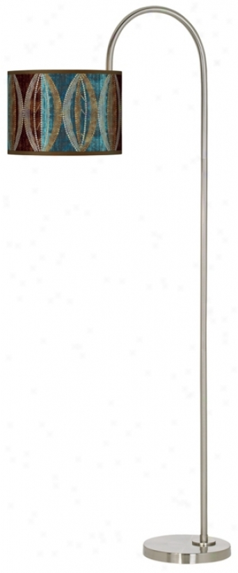 Stacy Garcja Pearl Leaf Peacock Arc Tempo Gic1ee Floor Lamp (m3882-n8242)