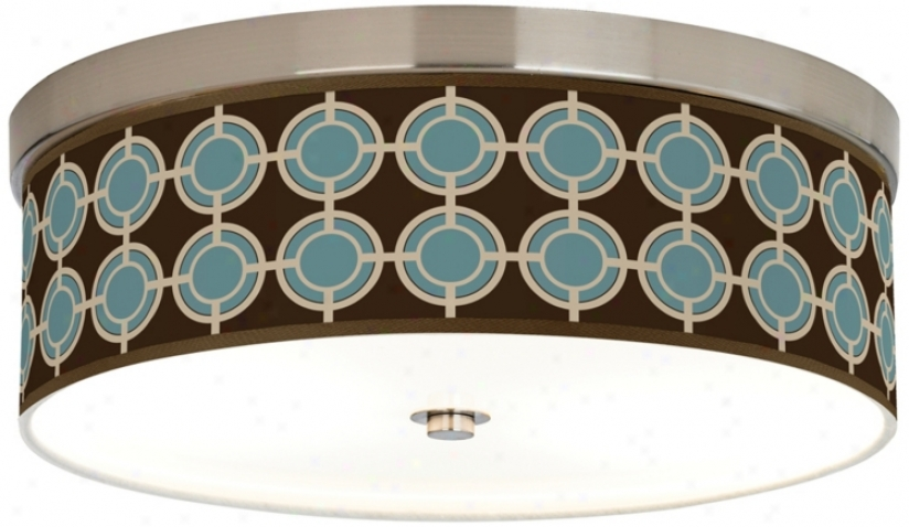 "Stacy Garcia Porthole Giclee14"" Wide Ceiling Light (h8796-w0833)"