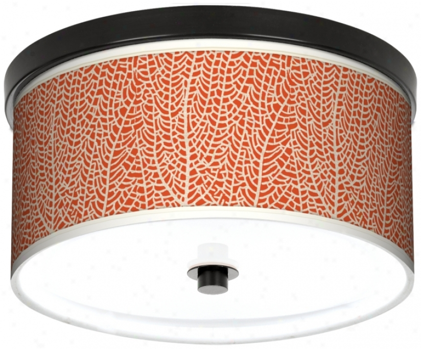 "Stacy Garcia Seafan Coral Giclee 10 1/4"" Wide Ceiling Light (k2833-m0611)"