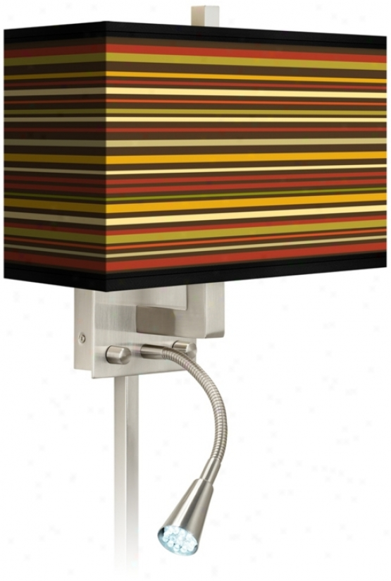Stacy Garcia Sppice Stripe Led Reading Light Plug-in Sconce (n8671-p7133)