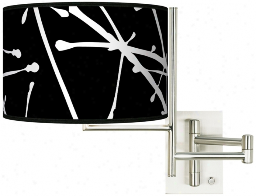 Stacy Garcia Tempo Tree Black Plug-in Swing Arm Wall Light (k1148-k4491)