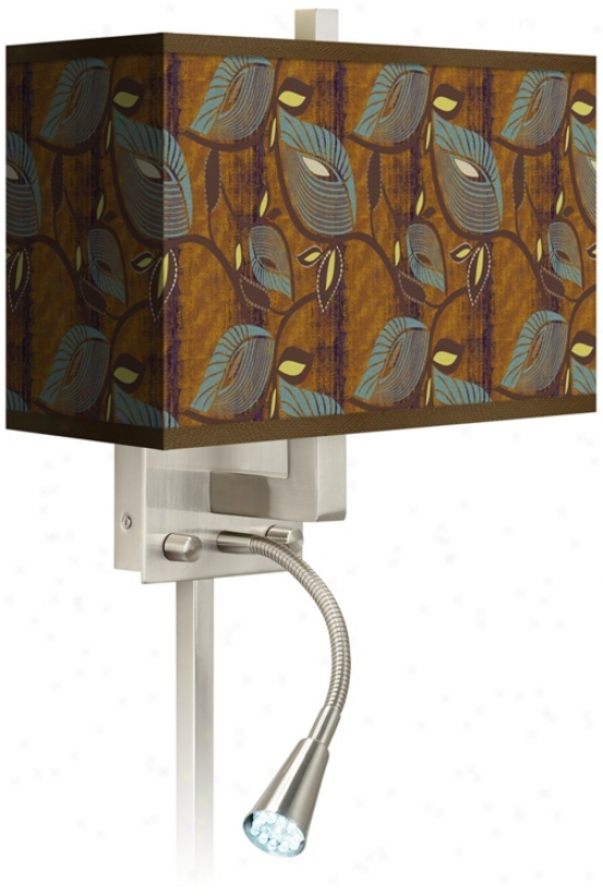 Stacy Garcia Theatric Vine Peacock Led Light Plug-in Sconce (n8671-p7214)