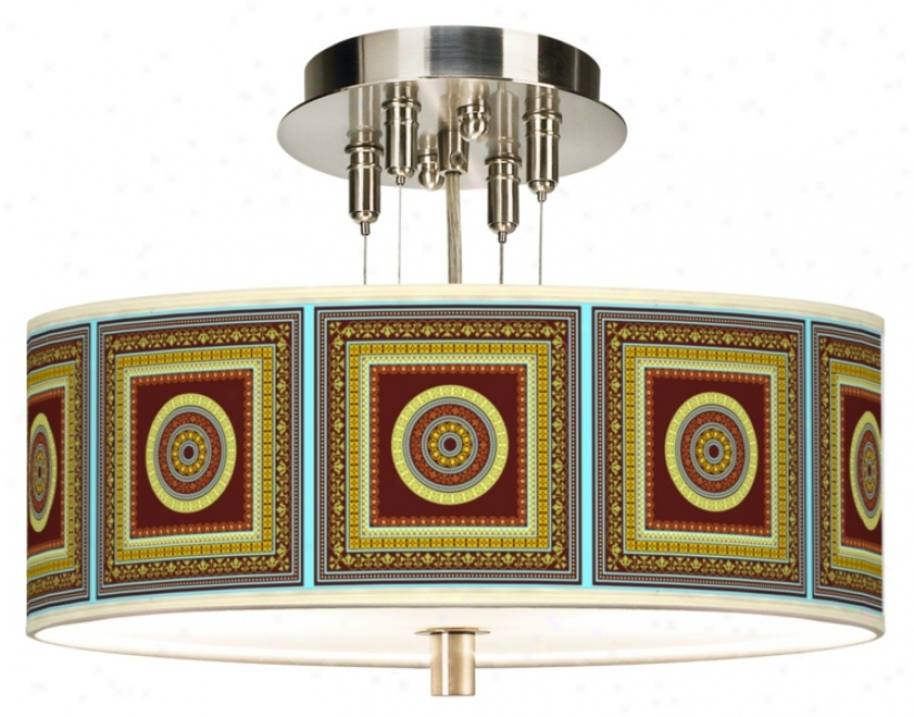 "Stacy Garcia Tiber Garnet Giclee 14"" Wide Ceiling Light (55369-k9230)"