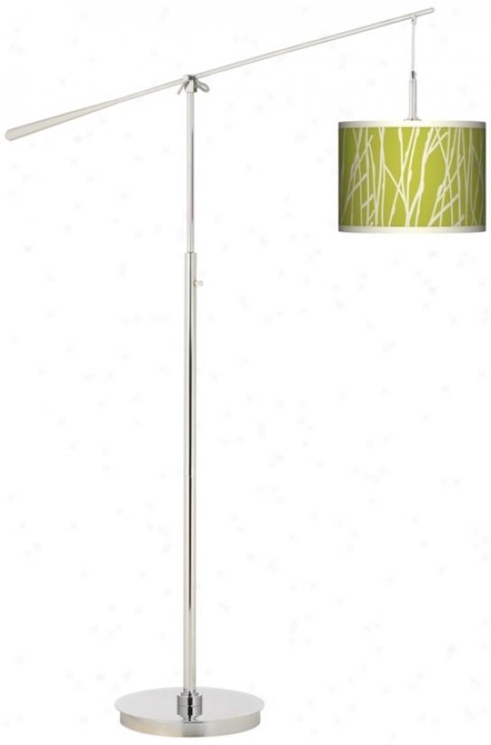 Stach Garcia Twiggy Spring Giclee Boom Arm Floor Lamp (n0749-n4308)