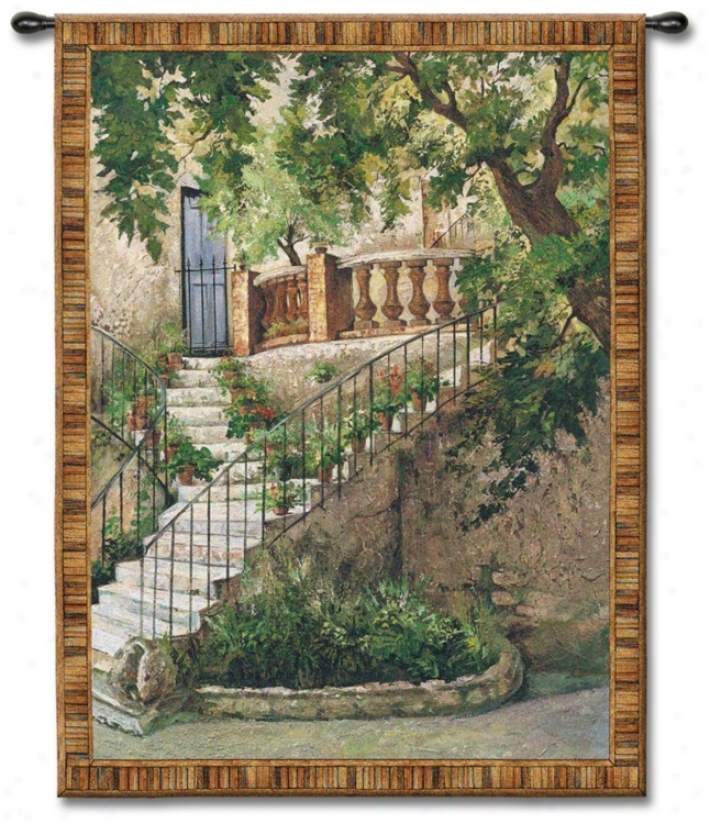 "Stairway To The Villa 71"" High Wall Tapestry (j8931)"