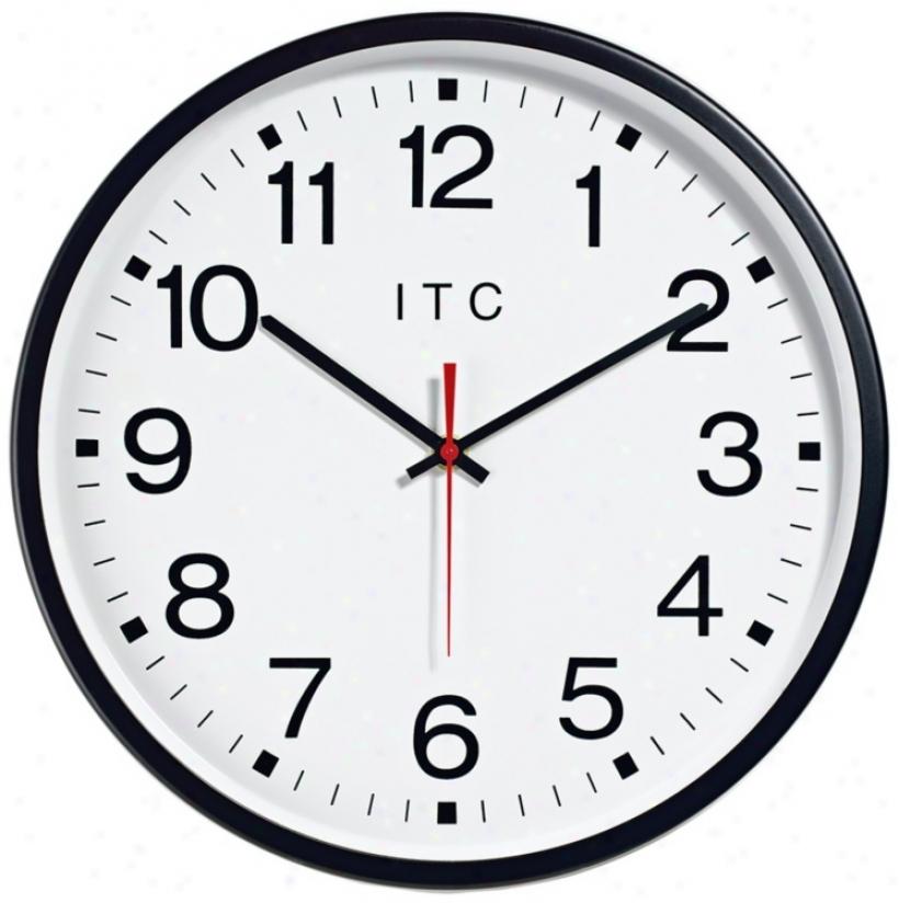 "Stalwart Round 12"" Radio Controlled Wall Clock (w1013)"