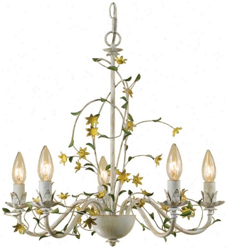 "Star Flower Hand-crafted 20"" Wide Chandelier (r3514)"
