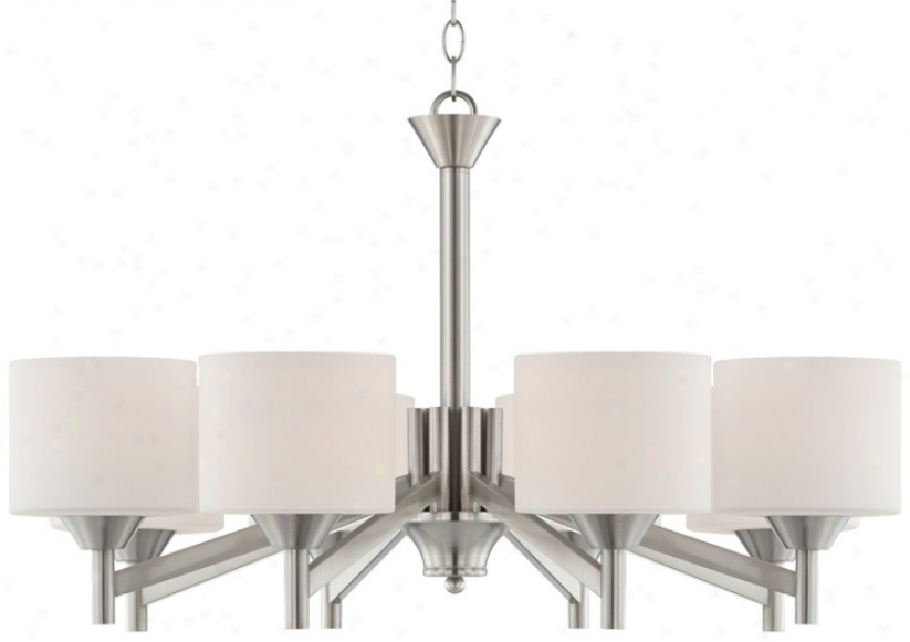 "Starry Brushed Steel 30"" Wide Entry Chandelier (t7061)"
