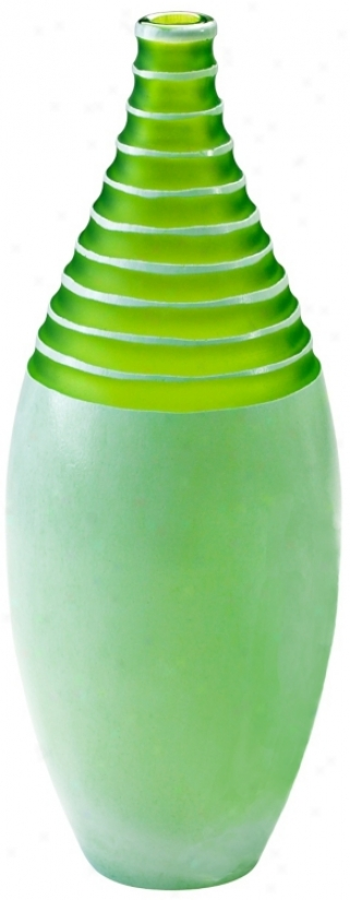 Stately Multi Textured Green Meadow Large Vase (v1401)