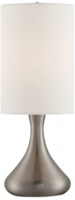 "Steel Droplet 17"" H Table Lamp With Cylinder Shade (v4328)"