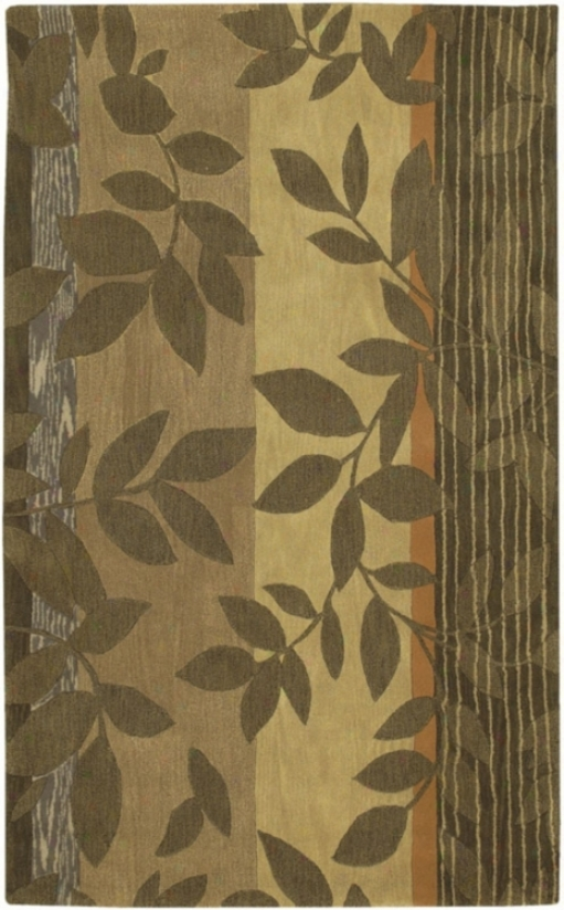 Stella Smith Collection Leaves Handmade Rug (f6808)
