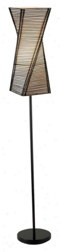 Stix Black Twisted Metal Floor Lamp (m1264)