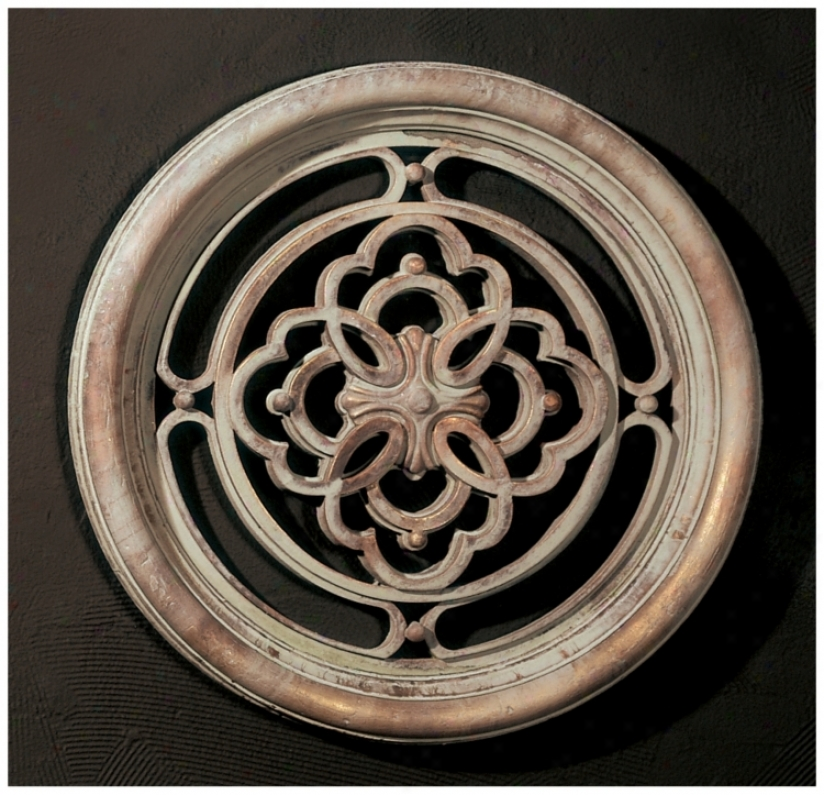 Stone Finish Round Grille Wall Art (m0259)