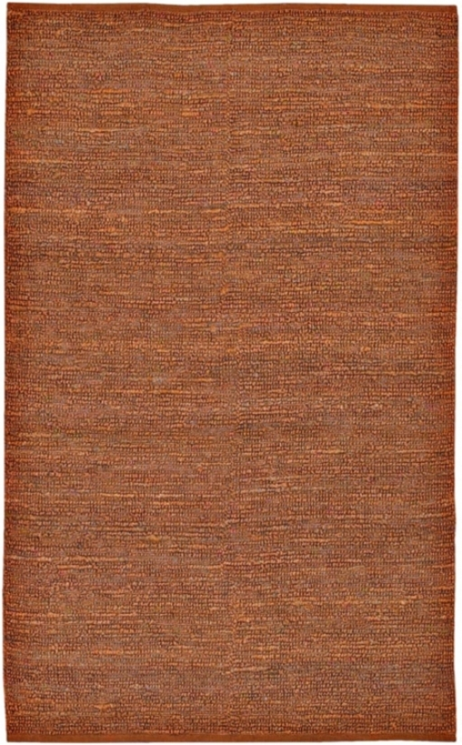 Stratford Rust Hand-woven Jute Rug (f1365)