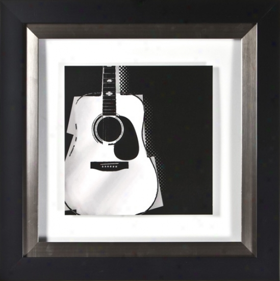 "Strings I Under Glass 20"" Square Wall Art (h1879)"