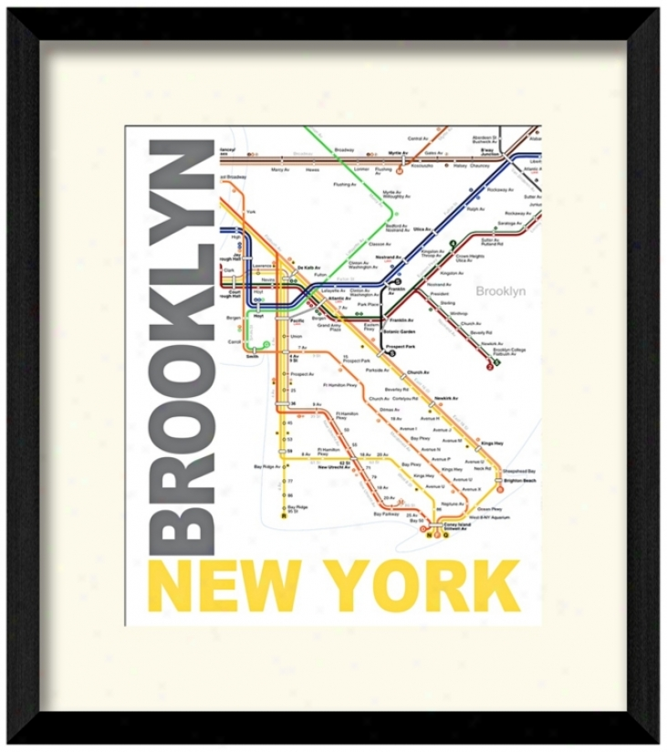 "Subway B 17 1/2"" High New York Wall Art (w0480)"