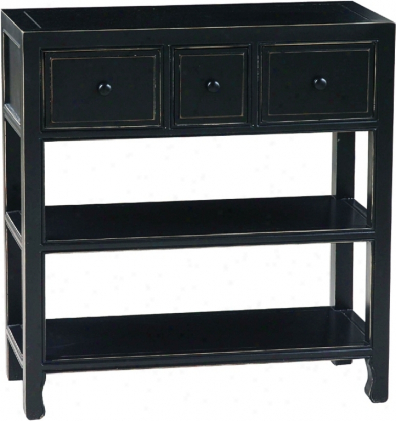 Suchow Black Finish Console (h2241)